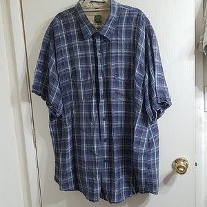 Short sleeve plaid shirt XXL